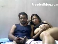 Indian Aunty and amp; Her Husband on Webcam