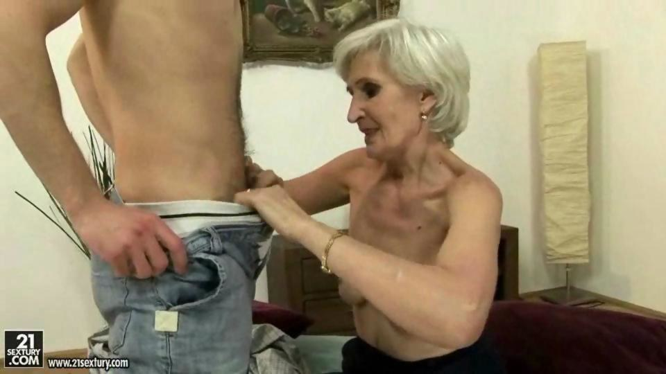 Horny gilf gets two bbcs for her birthday 10