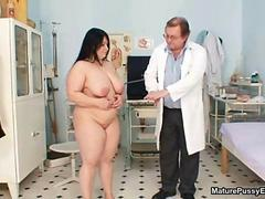Chubby mature wife with big tits gets