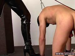 Leather whip dominatrix whips loser