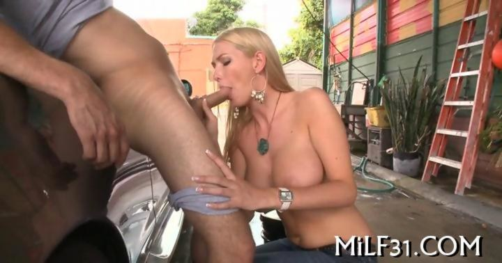 Sexy and wild car wash blowjob on gotporn