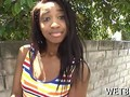 Explicit backyard banging for a amateur ebony teen