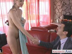 Blonde goddess Julia Ann gets facialized