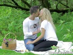 Moms Passions - Romantic fuck on a picnic blanket