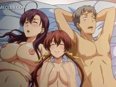 Hentai threesome with two hotties fucked hardcore