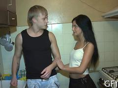 Mesmerizing Russian teen makes her boyfriend a cuckold