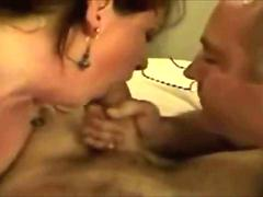 Amateur MILF and her bisexual husband sucking