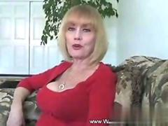 Dirty talking MILF getting rammed like a slut