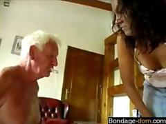 bdsm session and the old man loves it