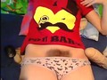 Hairy teen with tasty tits toys her pussy on webcam
