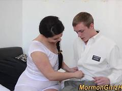 Mature mormon slut jizzed