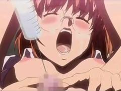 Roped Anime girl gets pussy rubbed hard