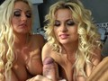 voluptuous blonde bitches making that cock explode