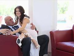 Sexy Stepmom Fucks Her Boss For Money Every D