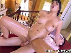 Big dick Jordi hammering hard at hot latina MILF Mercedes