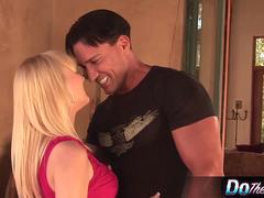 Super sexy blonde wife pounded by porn stud