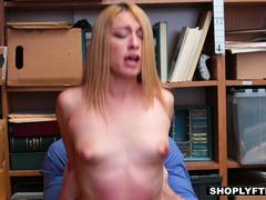 Shoplyfter - Giggly Teen Groped and Fucked By Security
