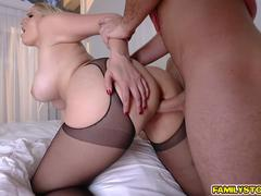 Vanessa Cage pussy doggystyle fuck by stepson