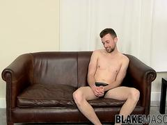 Eden Starr toys his ass and jerks off his fat rod solo