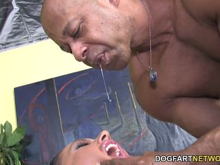 busty kerry louise gets fucked by a huge black cock for the last time