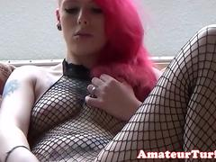 Red head german amateur toys herself