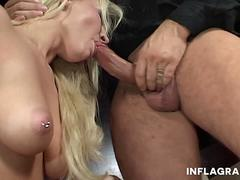 Naughty Blonde Loves It Rough