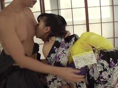 Horny mil Yui Oba enjoys hard sex with younger man