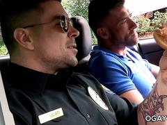 Officer Ducati fucks a gay twink
