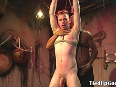 BDSM sub punished by maledom with whipping