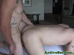 Mature soldier assfucked by handsome stud