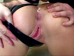 Slut blonde completely ravaged in threesome
