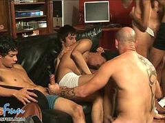 boys and dads blow meat pipes at a group sex party video