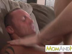 skinny MILF Faith Leone gets facial