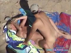 Nude Beach - Blurred Blond Fuck