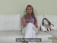 Milf fuck on casting for porn