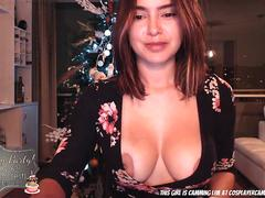 latina just put her buttplug in before the christmas party.. movie