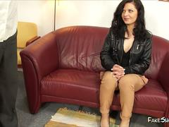 Hot Bitch Fucked From Behind at Casting