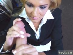 Handjob with latex gloves by nurse cum explosion first time Hot Milf Banged At The