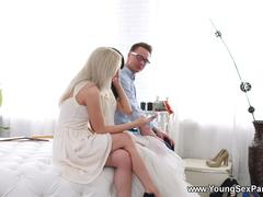 Young Sex Parties - TD Bambi - Dress fitting and a threeway