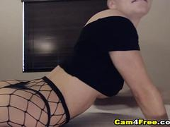 Gorgeous Bald Fucking Herself And Squirt