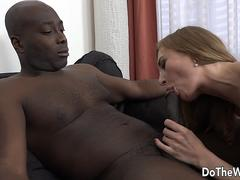 Wife Luca Bella Is Fucked in the Ass Interracially as Hubby Licks Her Cunt