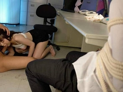 Stunning Asian bitch getting fucked in her office