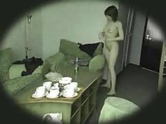 Home spycam 2 girl dressing up in home 2