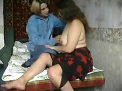 Hidden cam caught mature bbw woman fucked by young boyfriend