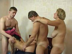 Older neighbour couple fuck with a hot young couple