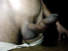 hairless uncut wet with precum