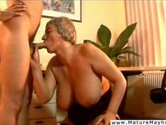 Old gray haired bitch is a real office whore