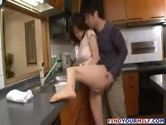 Asian milf cheating on her husband with her lover