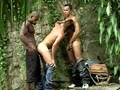 Young twinks fucked by two men in the Amazon jungle
