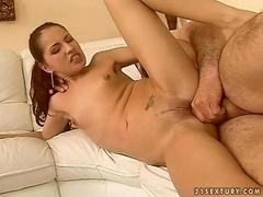 Teen enjoys anal sex with a hairy old guy